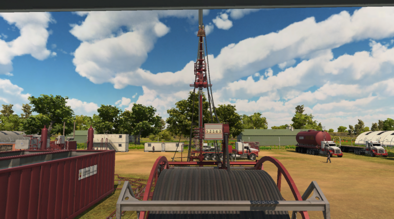 A graphical view of the depth counter on a CTS:5000 well intervention simulator
