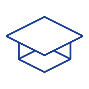 Education Icon Blue