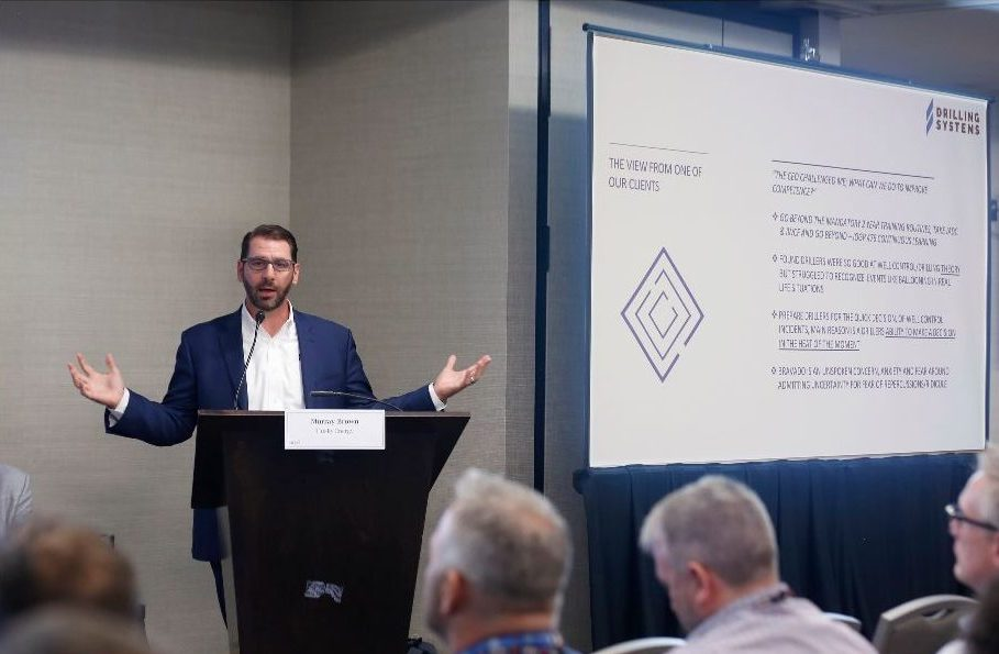 Jim Krupa, Regional Director for Drilling Systems, presenting technology developments in simulation at NOIA Conference 2019
