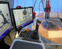 Cyberchair controls on a Drilling Systems DrillSIM:6000 drilling and well control simulator